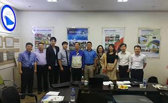 恒盛泵业和韩国船舶制造企业JAM携手合作!